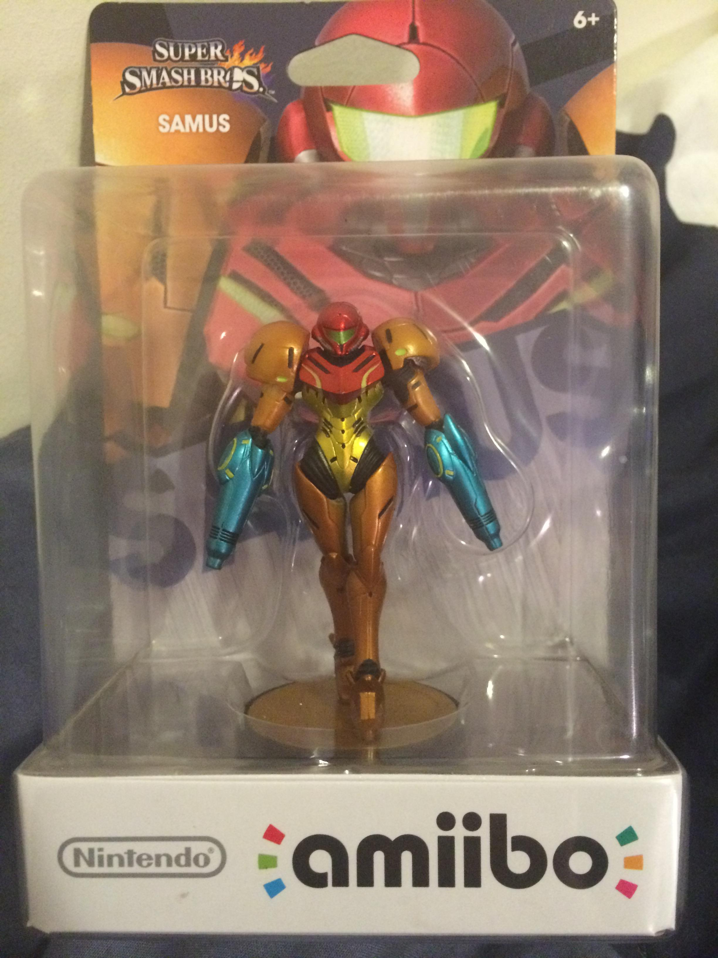 Amiibo Defect Gives Samus Two Arm Cannons
