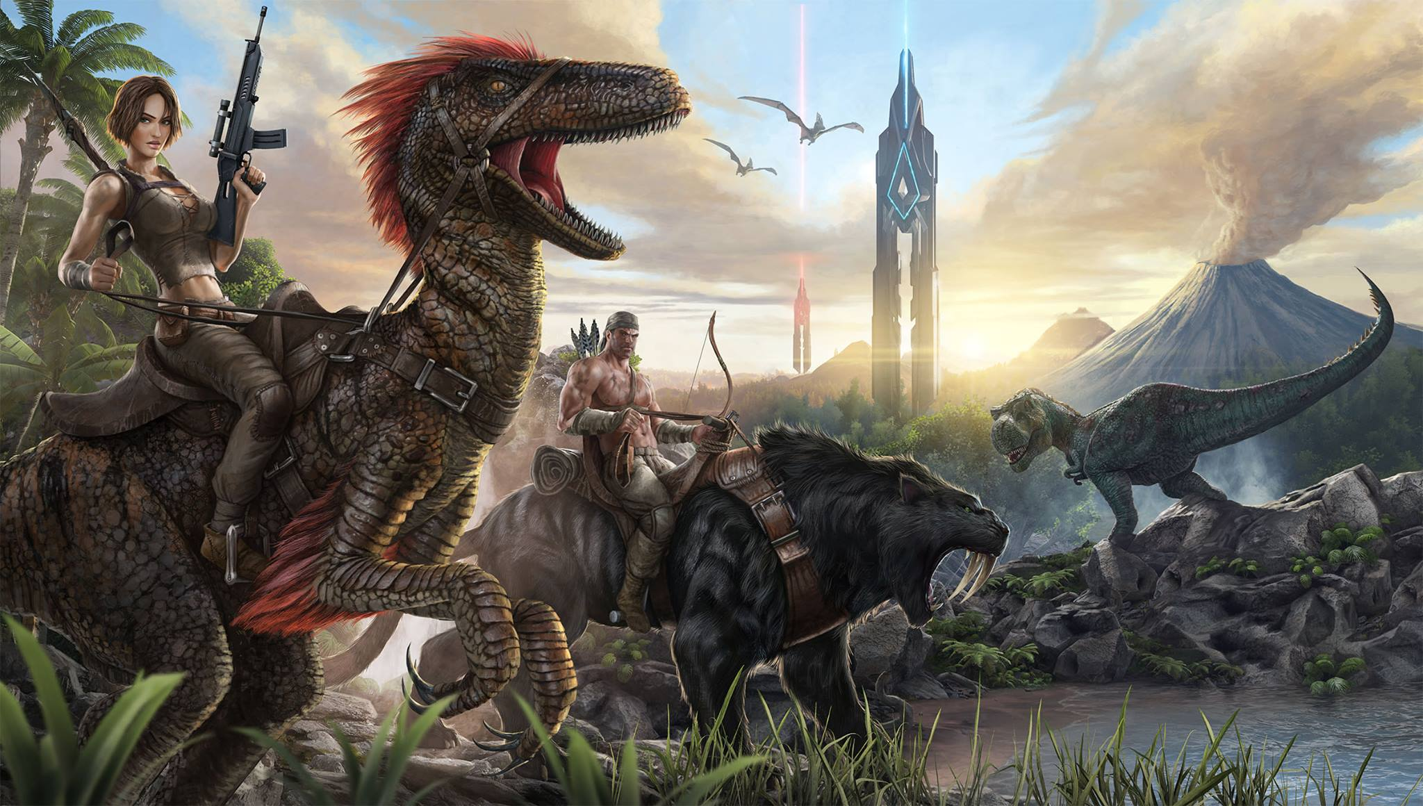 """ARK: Survival Evolved"" Is Bringing Dinosaurs Back - Along with ... Other Things"