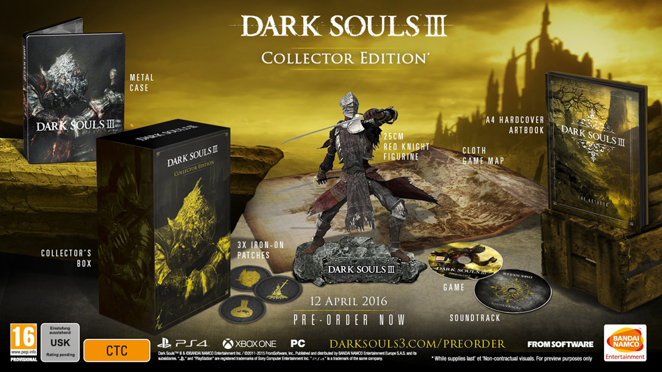 "Retailer Accidentally Leaks ""Dark Souls III"" Editions - Along With the Release Date!"
