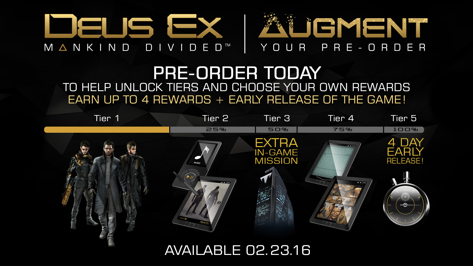 """Deus Ex: Mankind Divided"" Pre-order Program Cancelled"