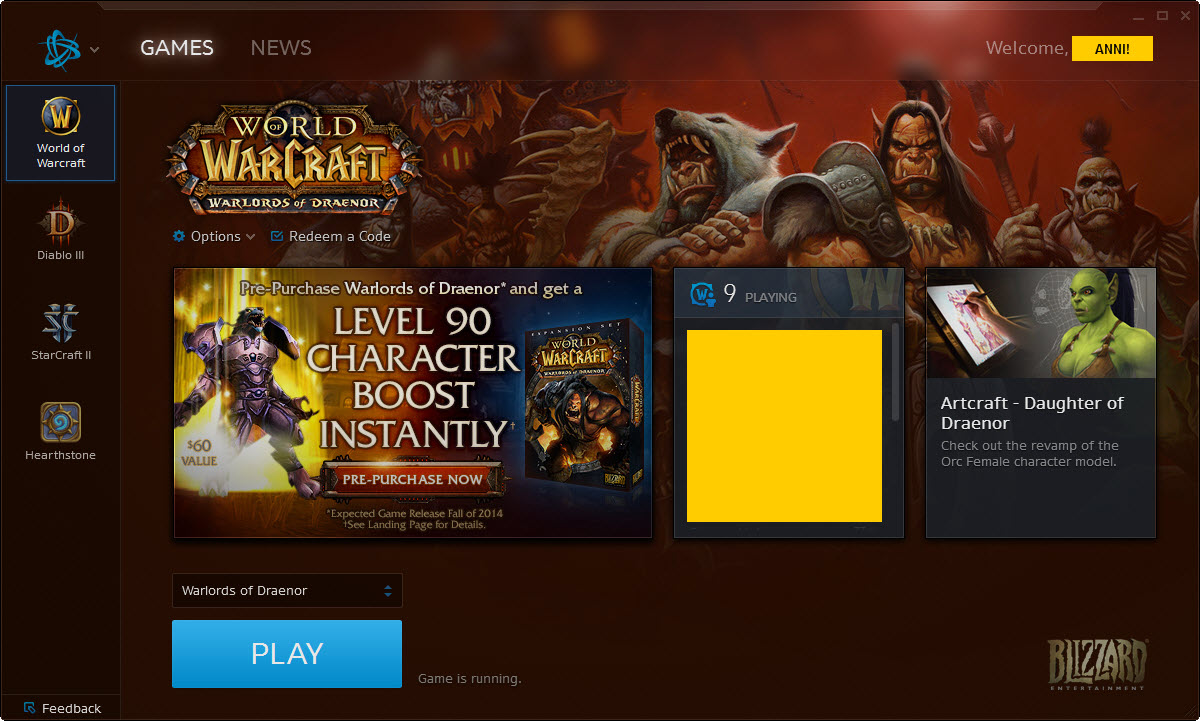 """Warcraft"" Character Boost Arrives - Pre-Purchase of ""Warlords of Draenor"" Brings 90 Boost with It"