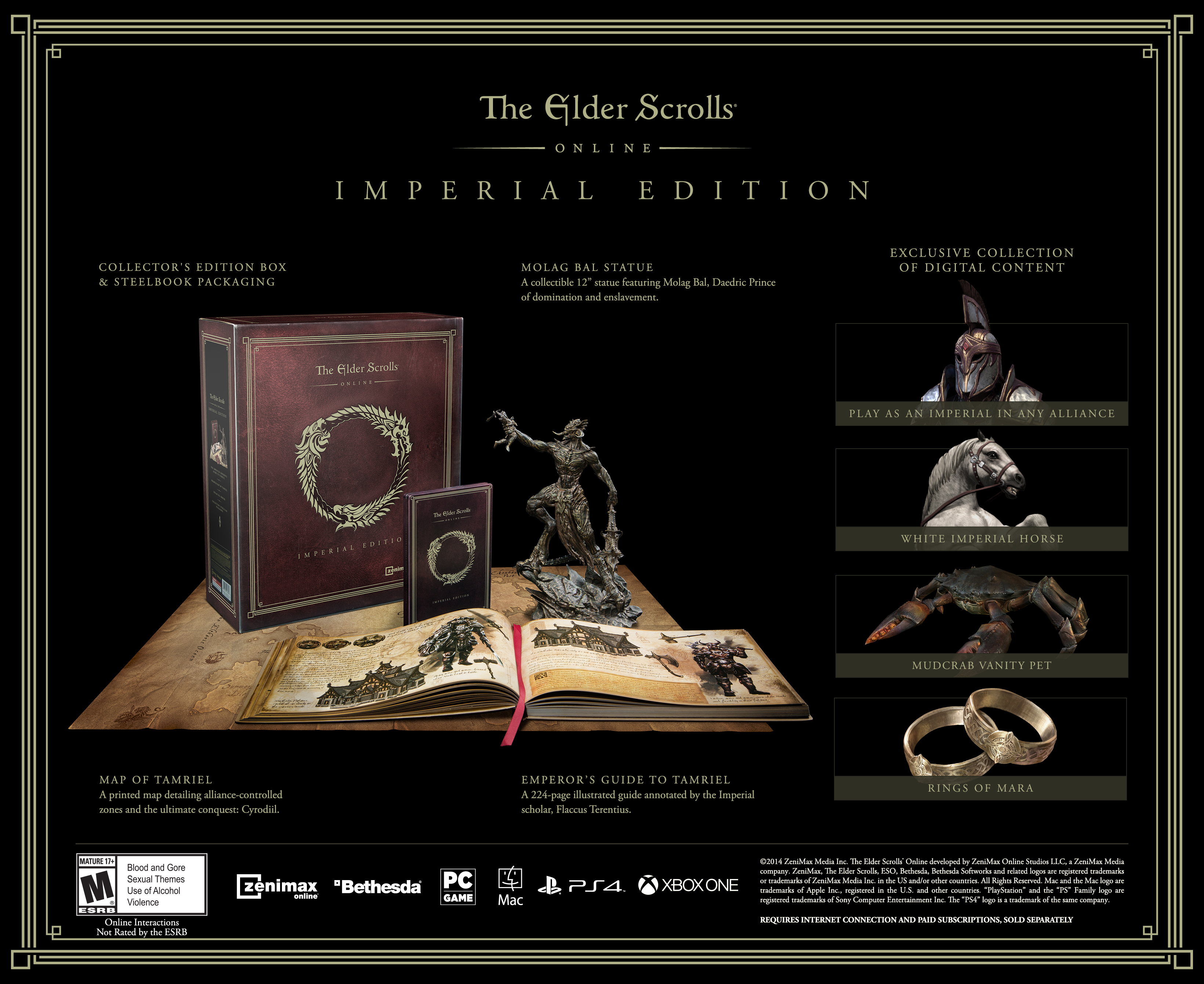 "Bethesda Announces ""Elder Scrolls Online"" Imperial Edition - Collectors Edition Includes Bonuses for Digital and Physical Releases"