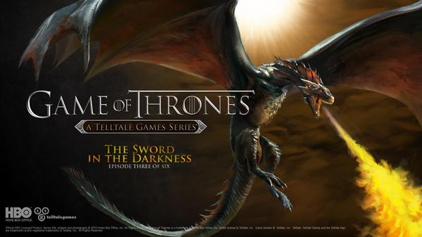 "Next Telltale's ""Game of Thrones"" Episode Announced - Episode 3: The Sword In The Darkness"