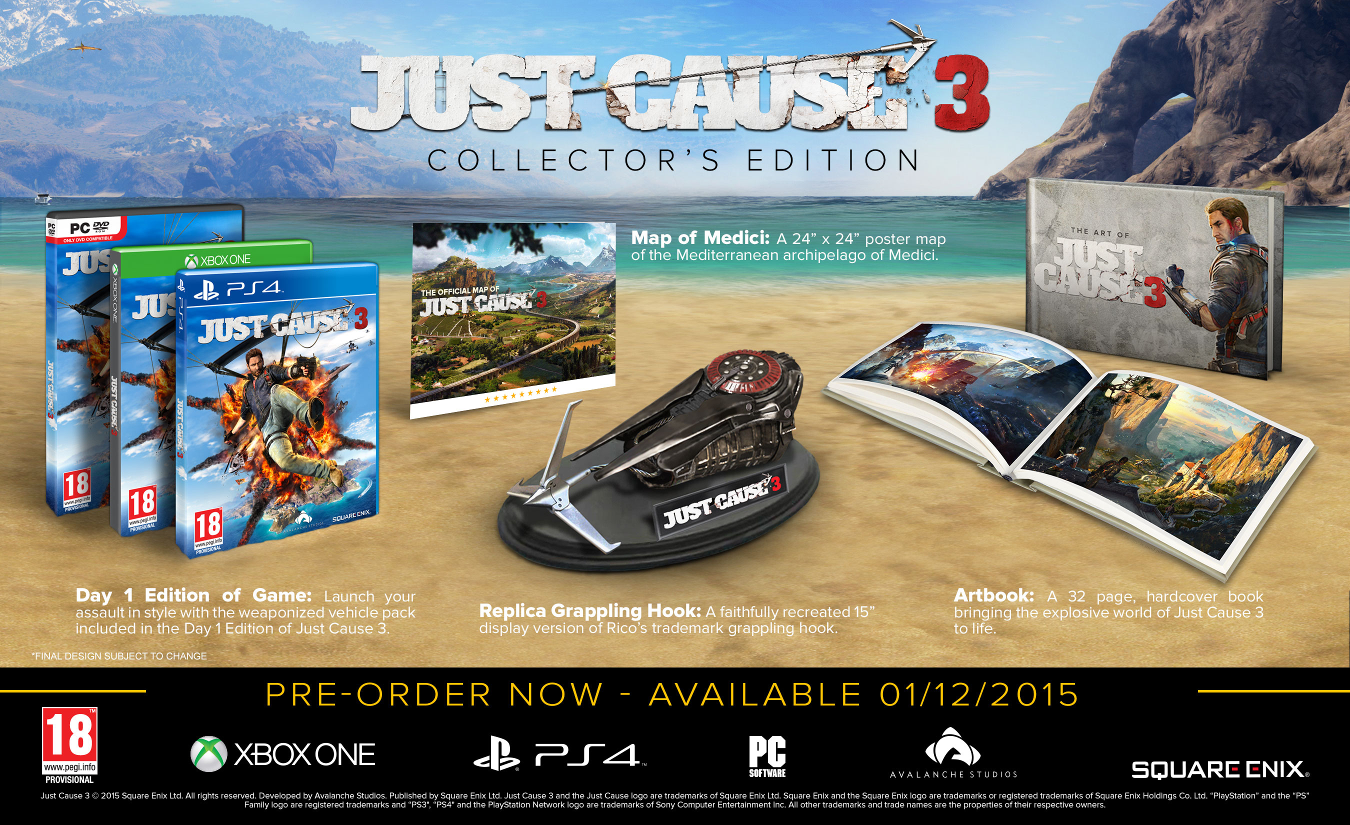 Ps4 just cause 3 collector's edition shopitree. Com.