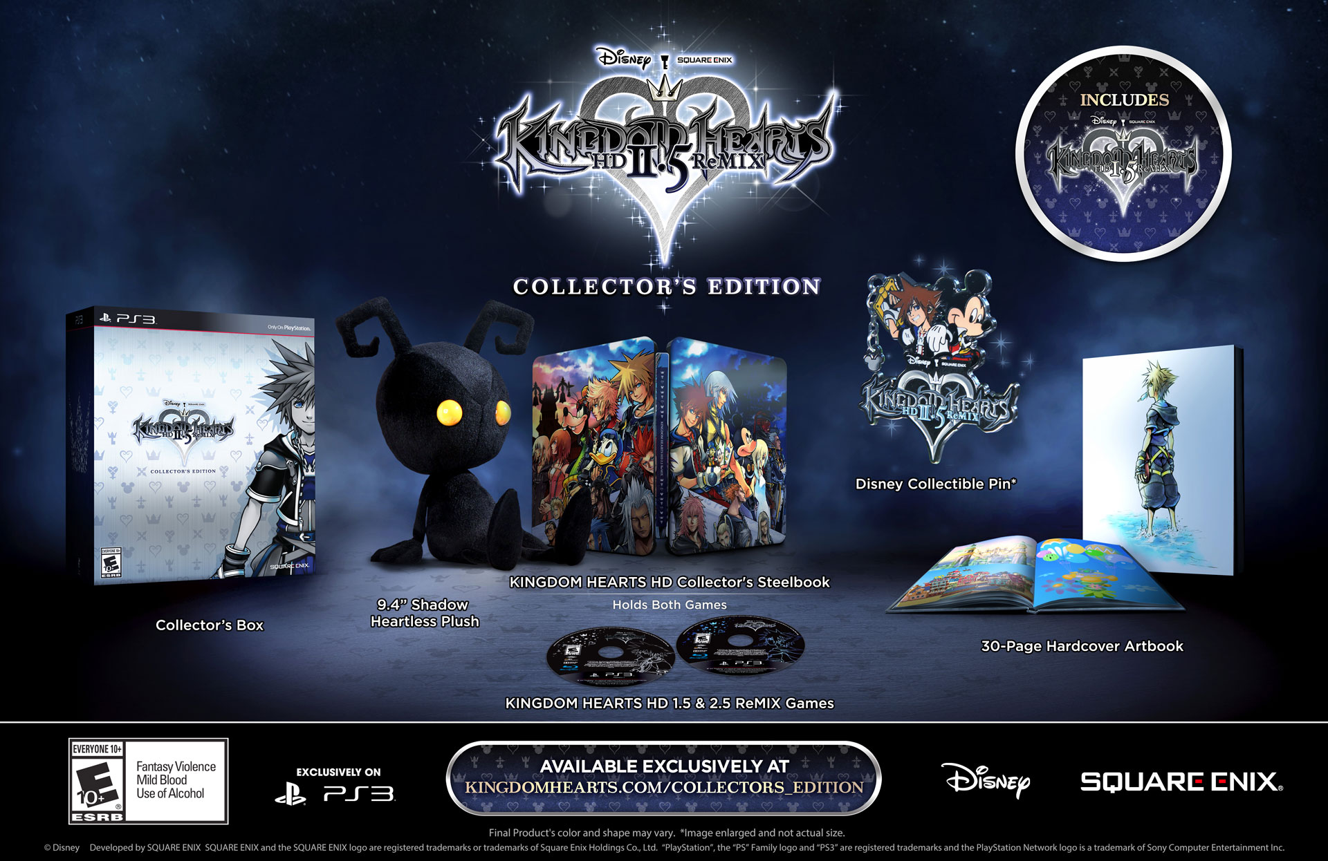 """Kingdom Hearts 2.5 HD Remix Collector's Edition"" Announced - Includes 1.5 & 2.5 HD Remixes"