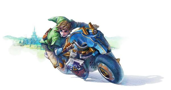 "Get a ""Legend of Zelda"" Bike in ""Mario Kart 8"" - Link rides on in with style"