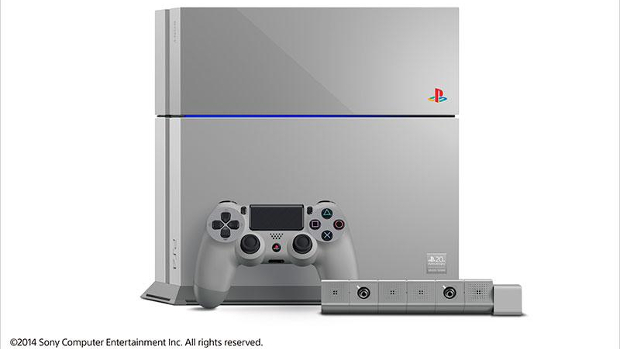 PlayStation Celebrating 20th Anniversary with Retro-Colored PS4 - Gray with the Classic PS1 Logo