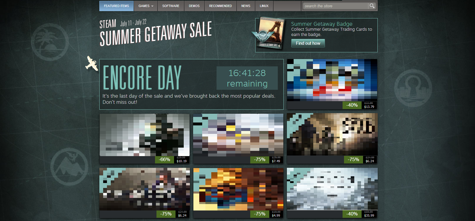 Are You Ready for a Miracle? - The 2013 Summer Steam Sale, and the Way of Things