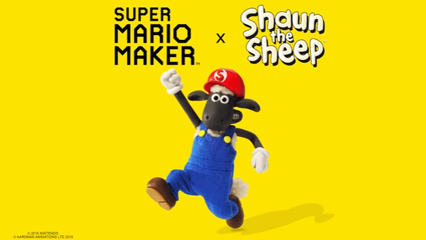 "Shaun the Sheep Coming to ""Super Mario Maker"" - Mario Finally Meets Shaun the Sheep"