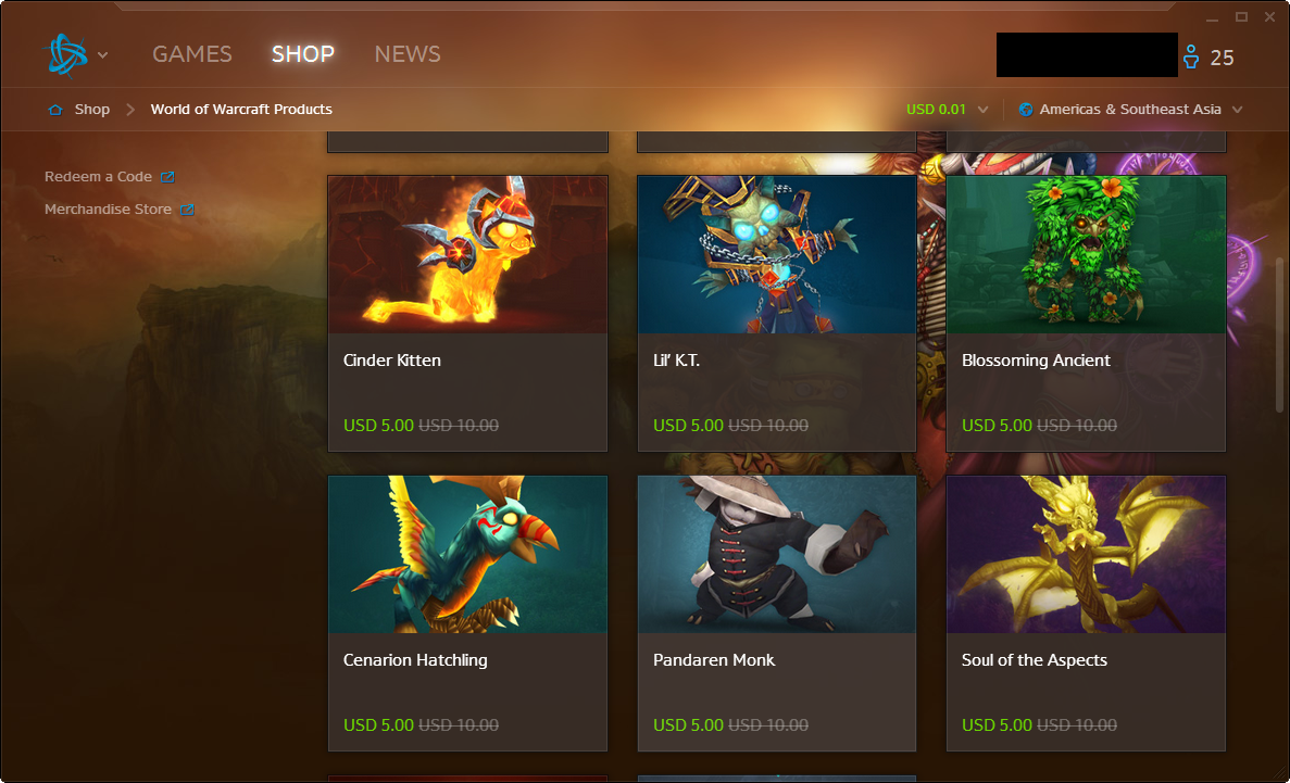 Battle.net Places Pets, Mounts on Sale - Sale Begins Dec. 17