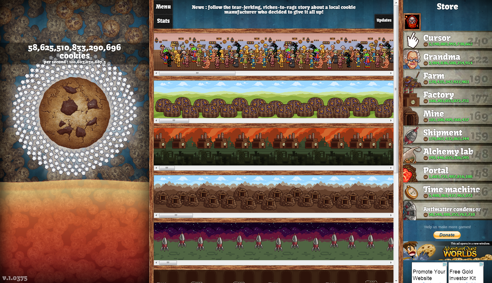 Cookie Clicker - Obsession has a new name