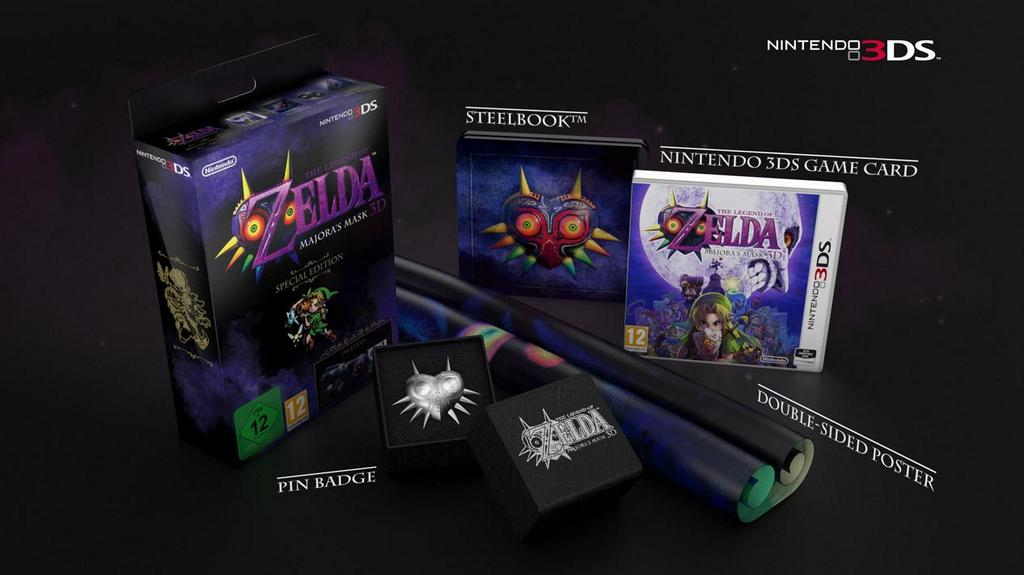 """The Legend of Zelda: Majora's Mask 3D Special Edition"" Revealed for UK - Includes Poster, Pin, and Steelbook"