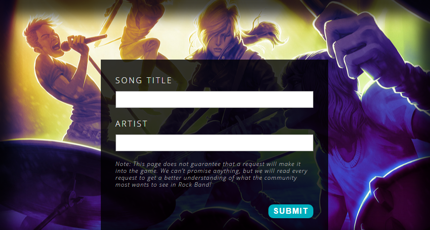 "Harmonix Launches Song Request Page For ""Rock Band 4"" - No,"